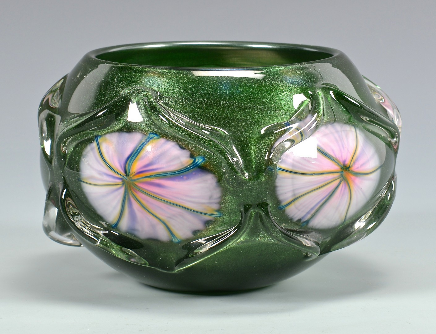 Lot 455: Charles Lotton Multiflora Bowl