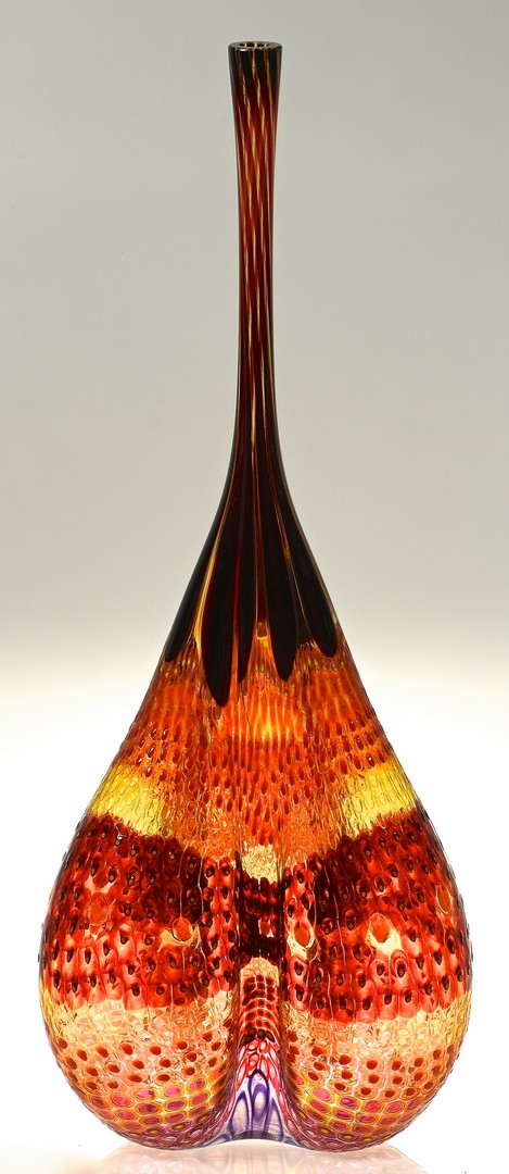Lot 456: Stephen Powell Large Glass Vase