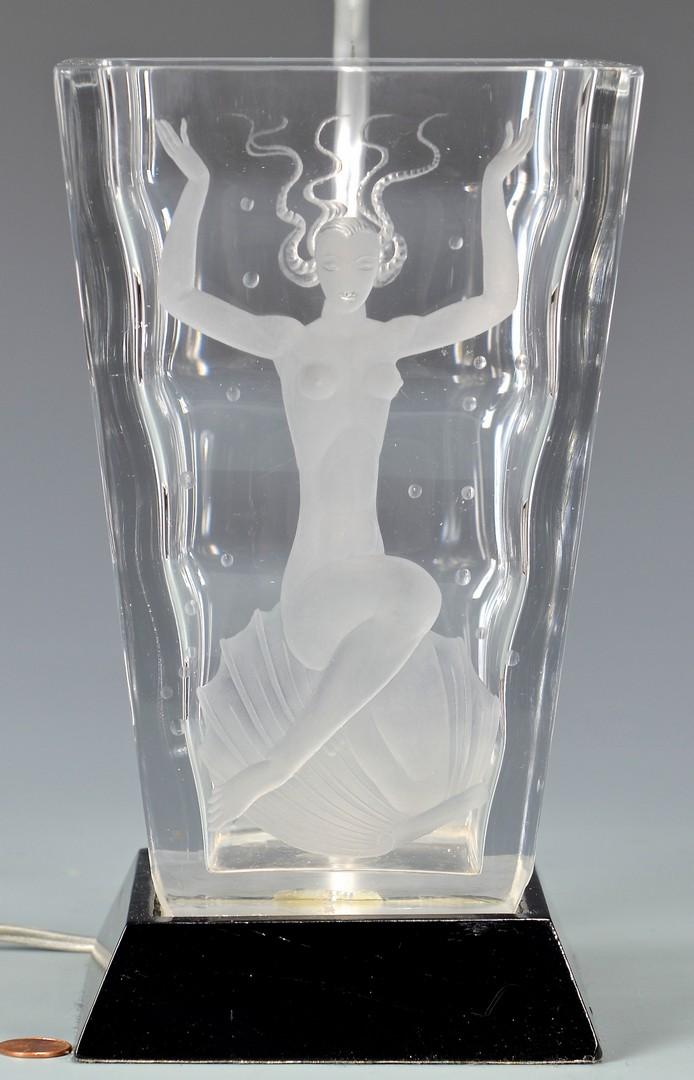 Lot 457: Orrefors and Verart Glass Vases