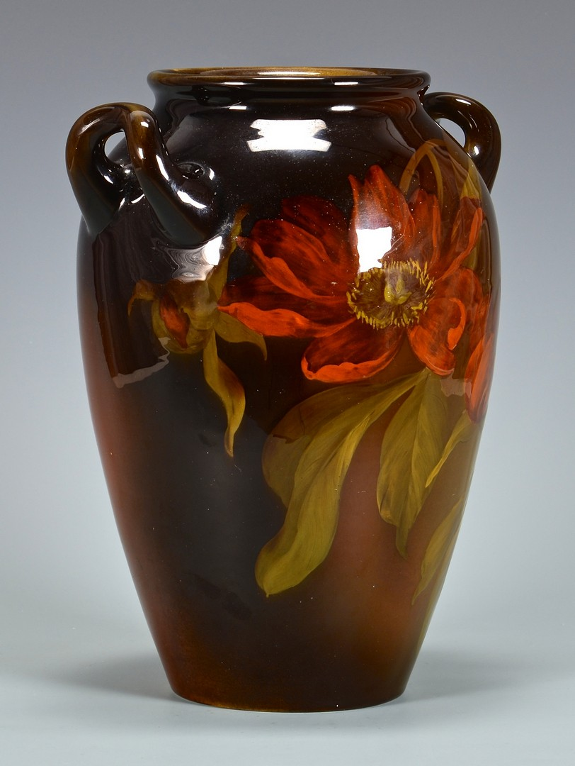 Lot 465: Artist Signed Rookwood Handled Jar, Sprague