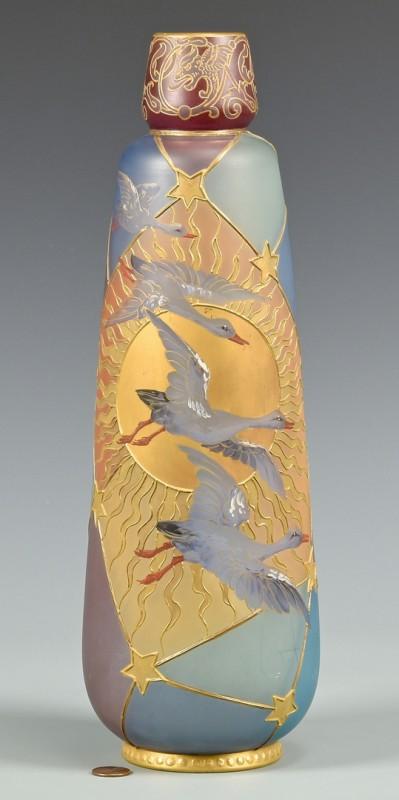 Lot 469: Mt. Washington Royal Flemish Vase