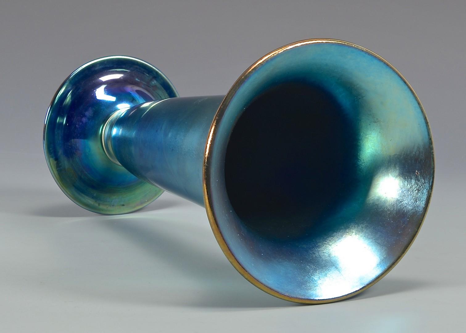 "Lot 480: Steuben Aurene Art Glass Vase, 11"""