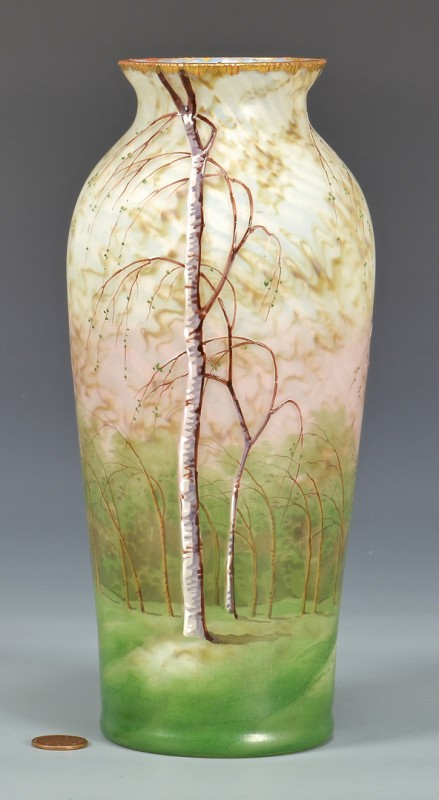 Lot 481: French Cameo Art Glass Vase, poss. Daum