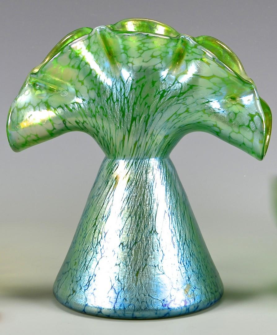 Lot 485: 3 Loetz Art Glass Items