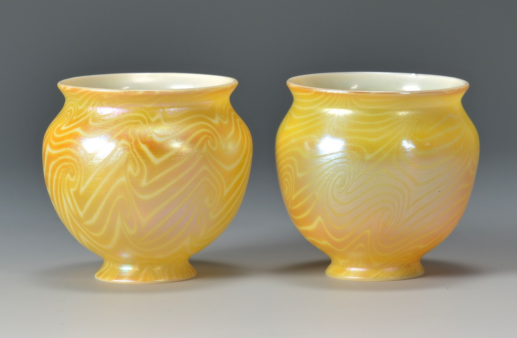Lot 486: Loetz Glass Snake Vase & Durand Glass Shades