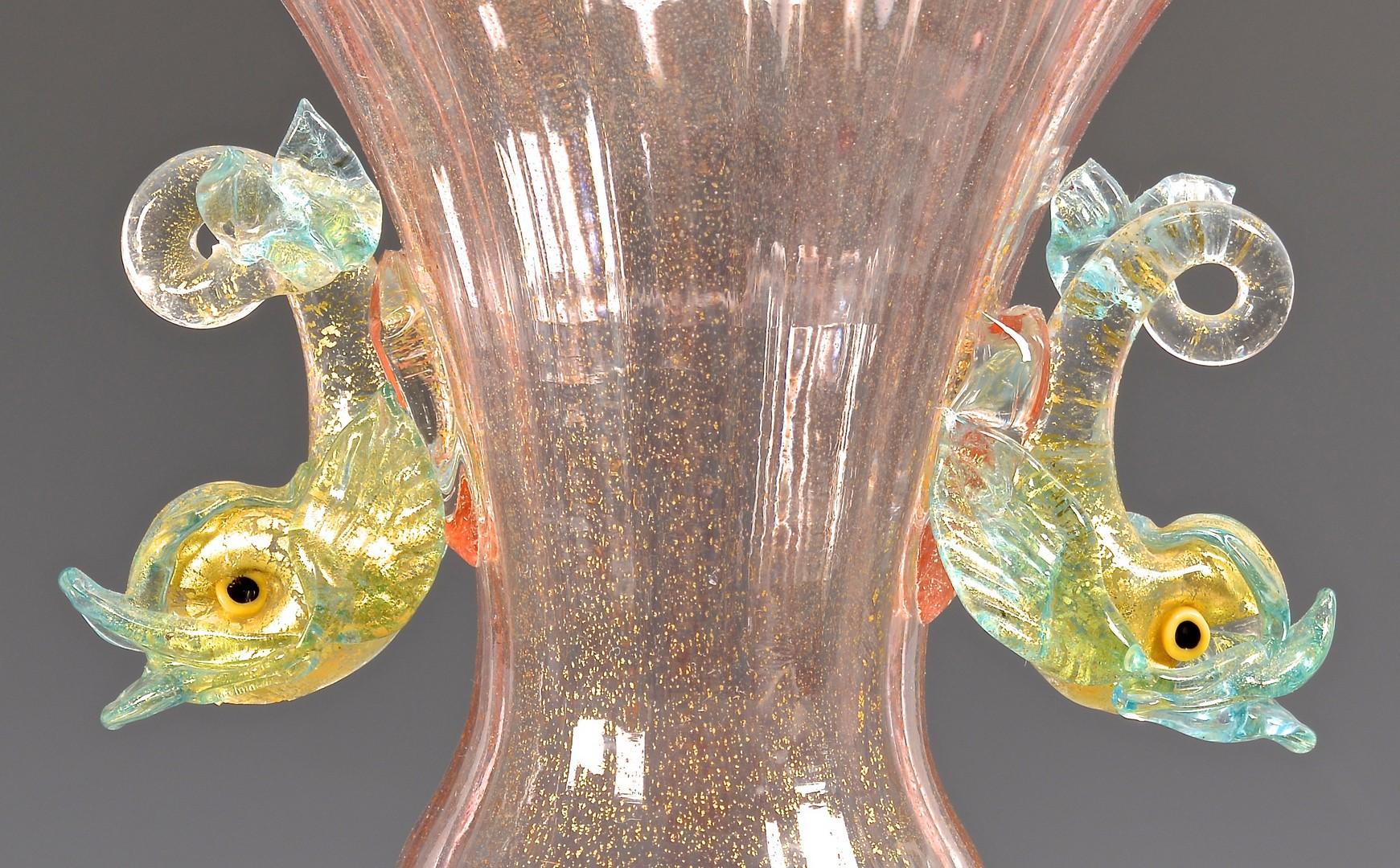 Lot 488: Pr. Early Venetian Glass Vases