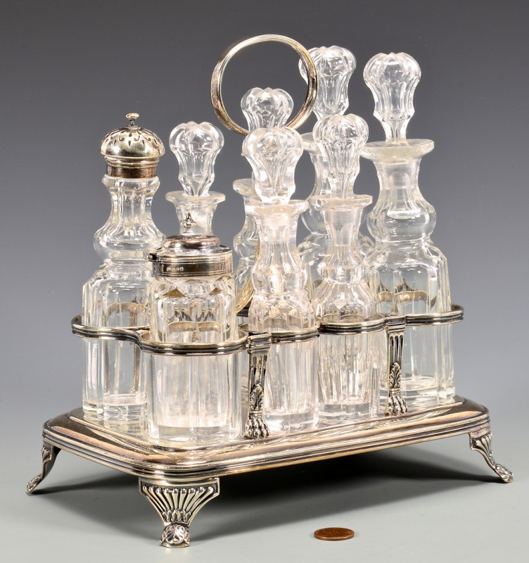 Lot 48: Emes and Barnard Sterling Cruet
