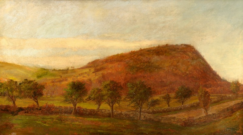 Lot 490: Frank Shapleigh Oil on Canvas Landscape, poss. TN