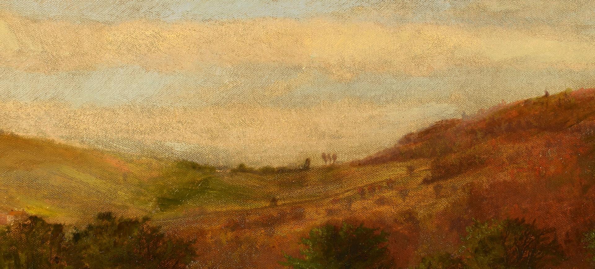 Lot 490: Frank Shapleigh Oil on Canvas Landscape, poss. TN