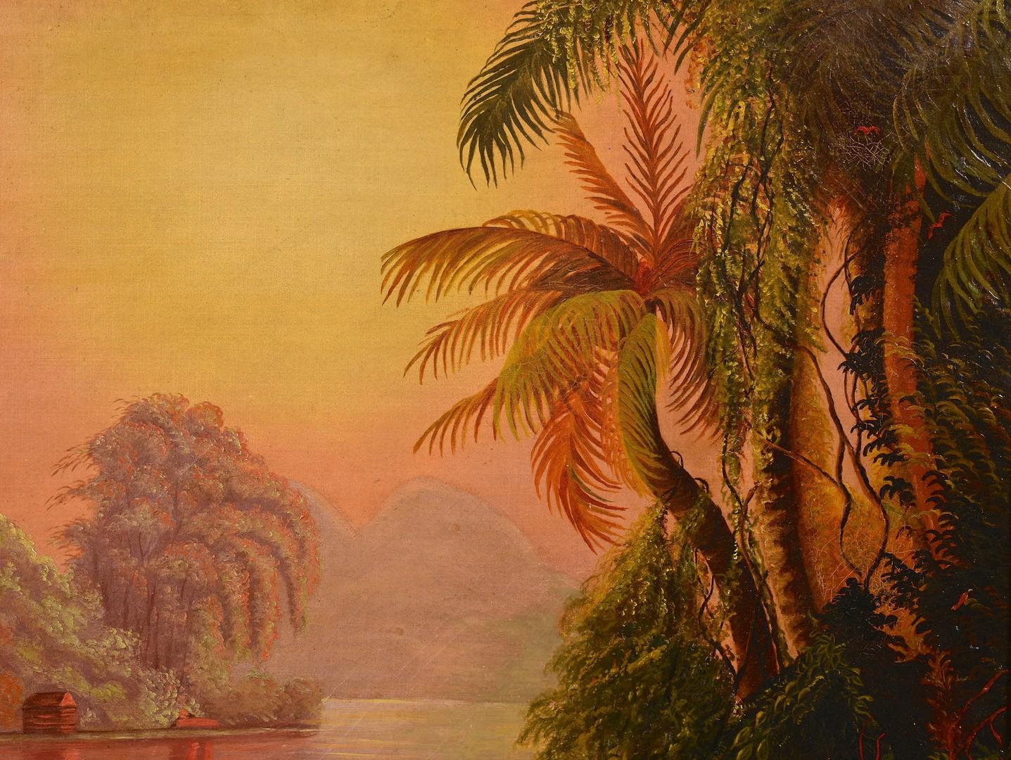 Lot 491: Manner of Norton Bush, tropical landscape