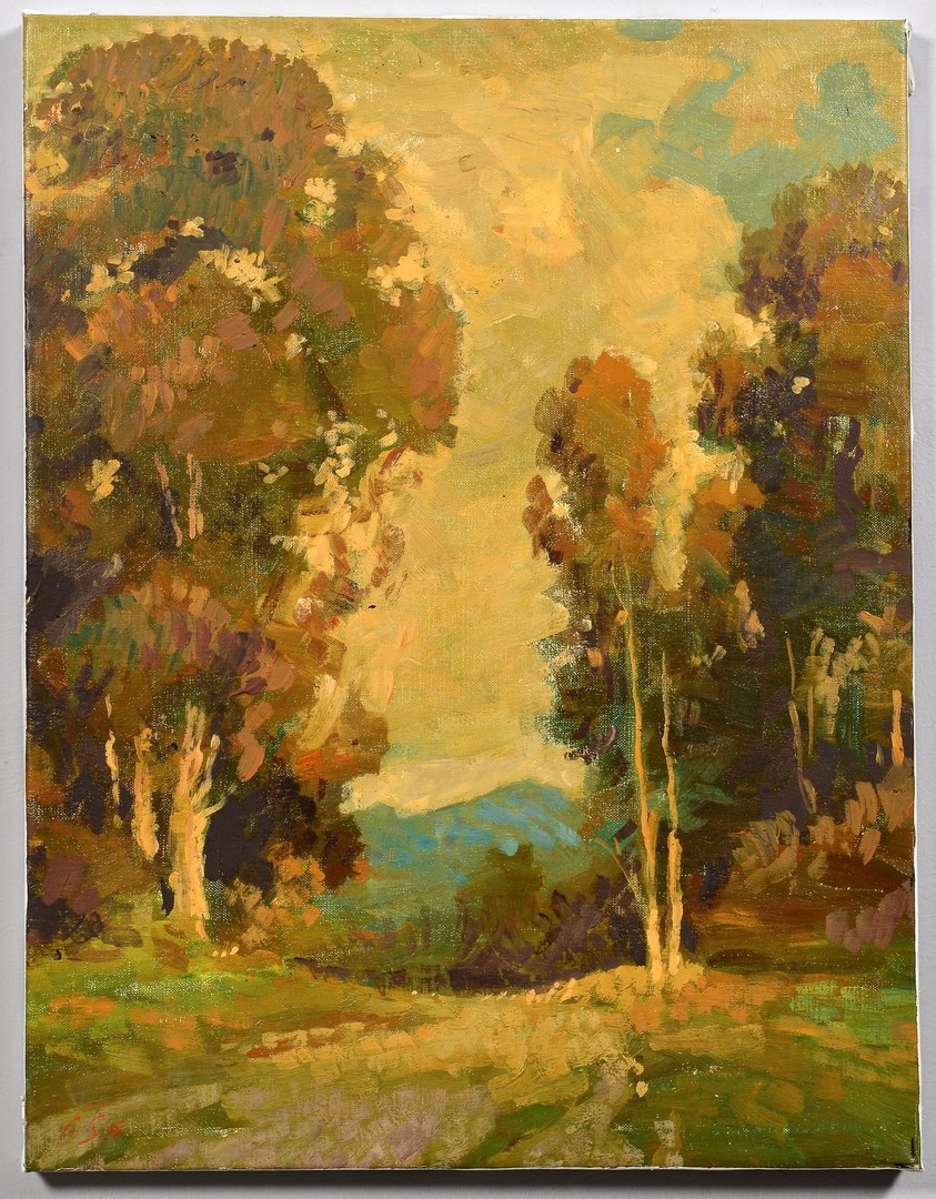 Lot 493: 2 G. Stepanyants oil on canvas landscapes