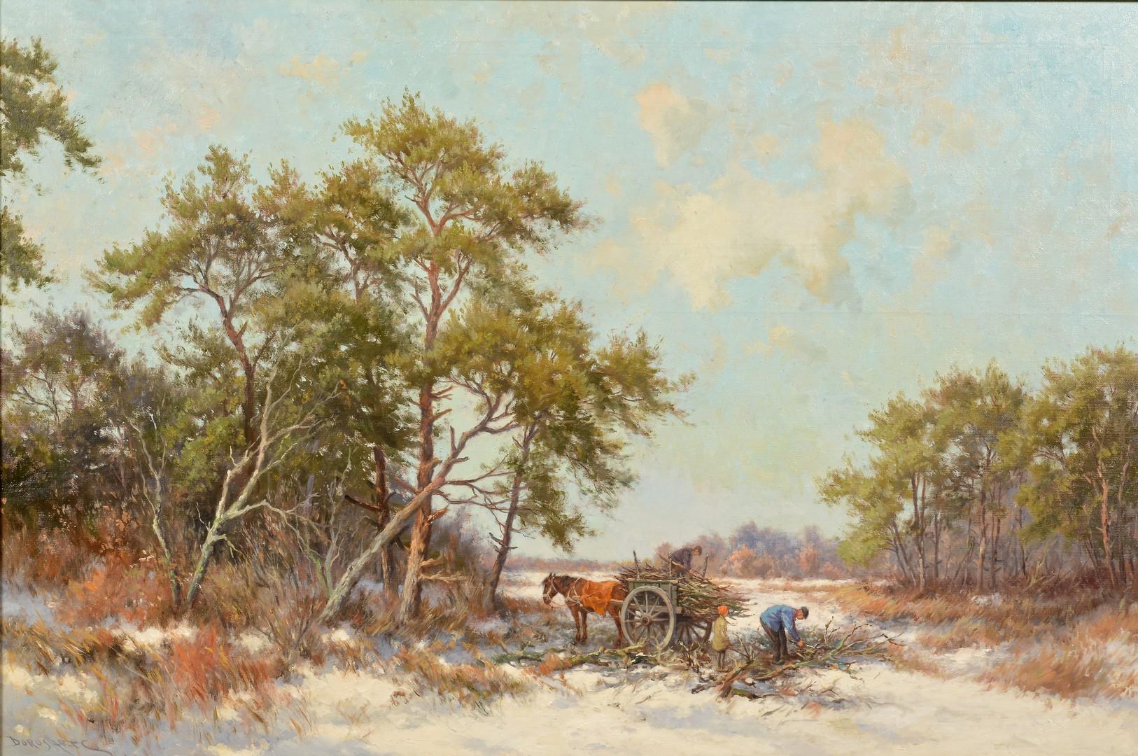 Lot 498: Dorus Arts, O/C, Winter Landscape