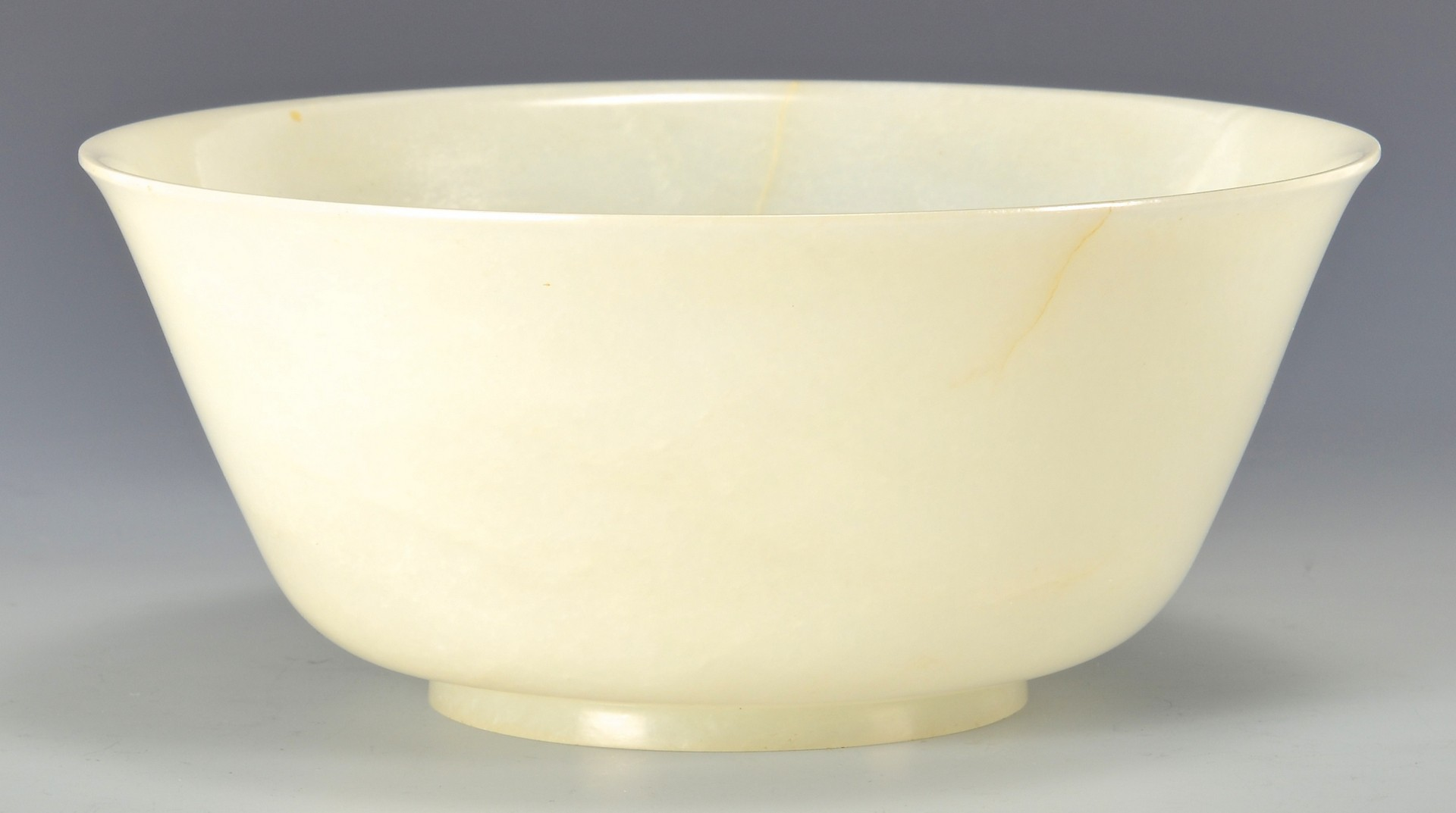 Lot 4: White Jade Bowl, Ch'ien Lung