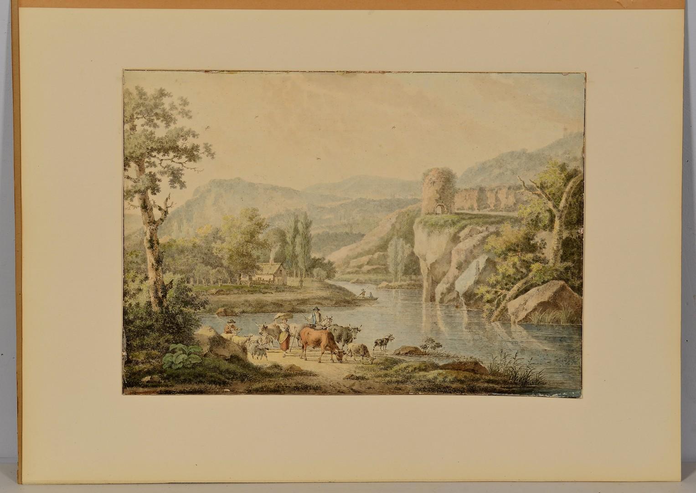 Lot 500: Henri-Joseph Antonissen W/C Landscape