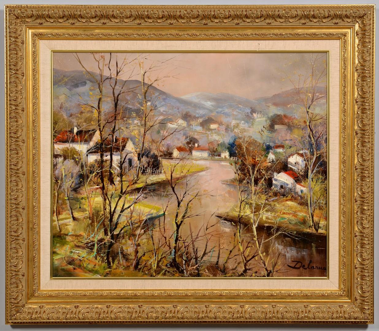 Lot 502: Lucien Delarue o/c, River Village