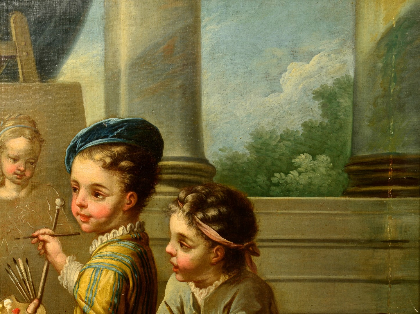 Lot 503: 19th Cent. French Oil after Charles A. Van Loo