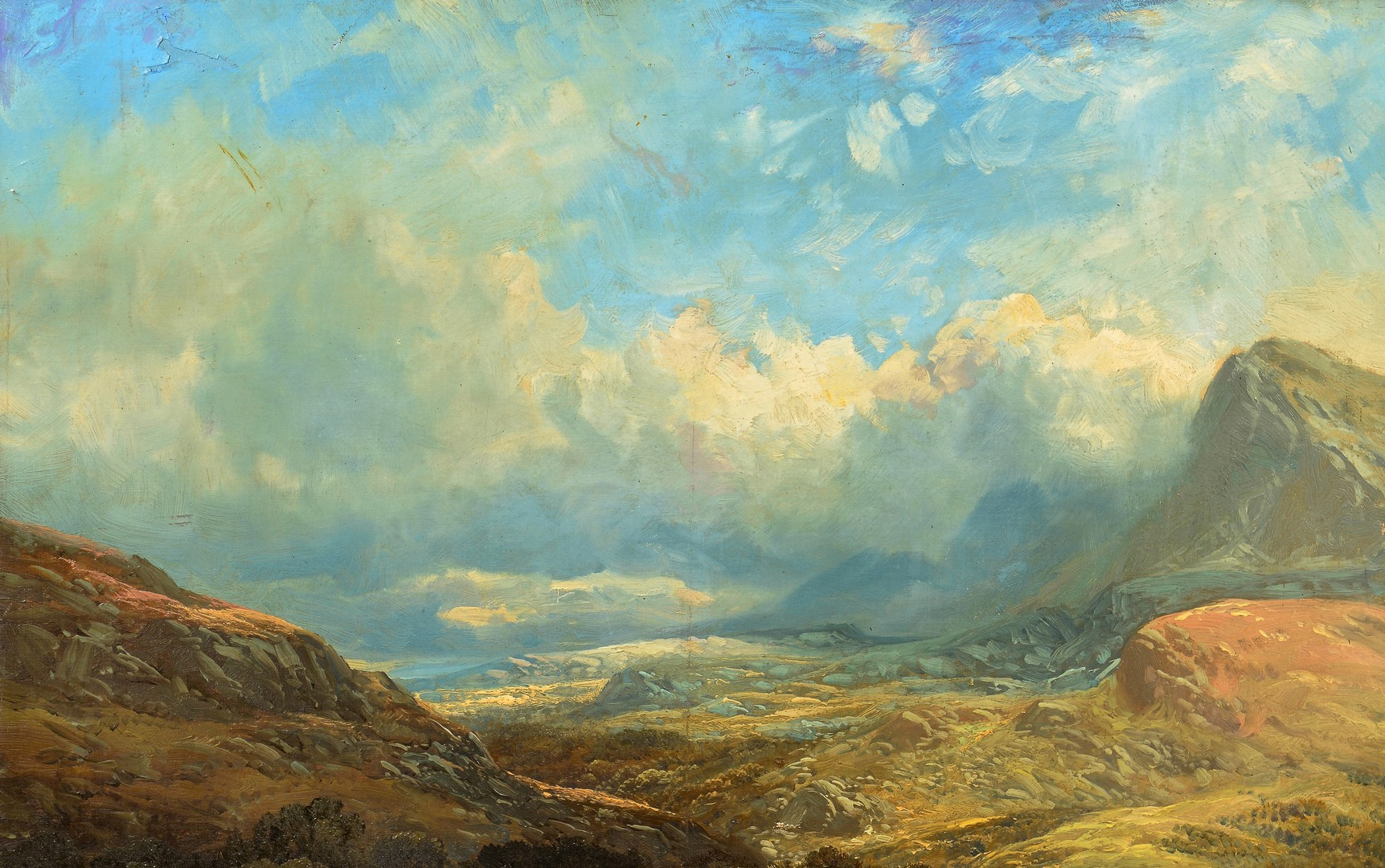 Lot 505: Clarence Roe Oil on Canvas Landscape