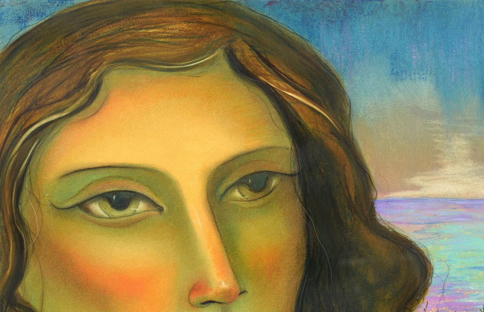 Lot 507: Miguel Martinez oil pastel, Sea of Blue