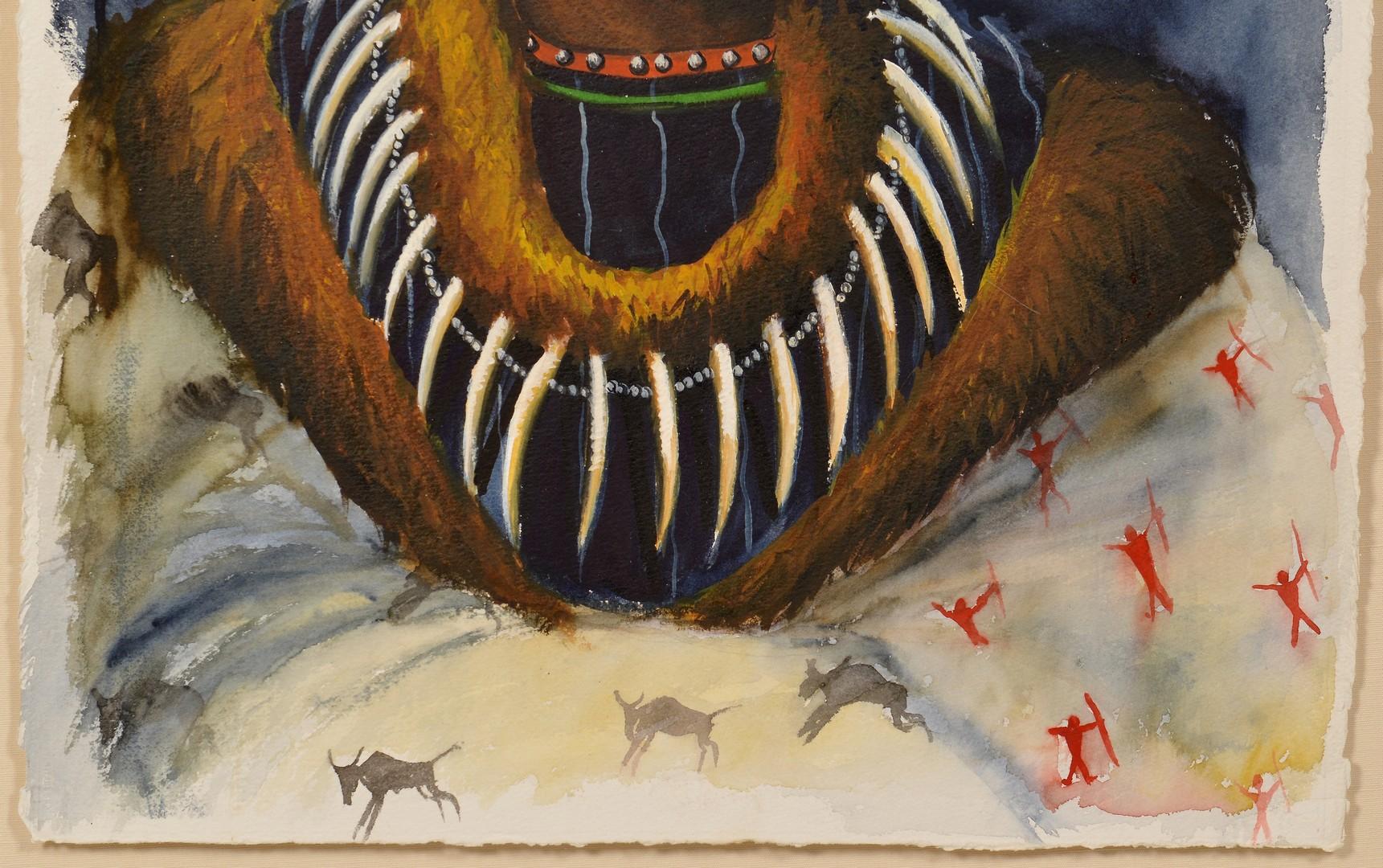 Lot 508: Native American Raymond Nordwall Watercolor
