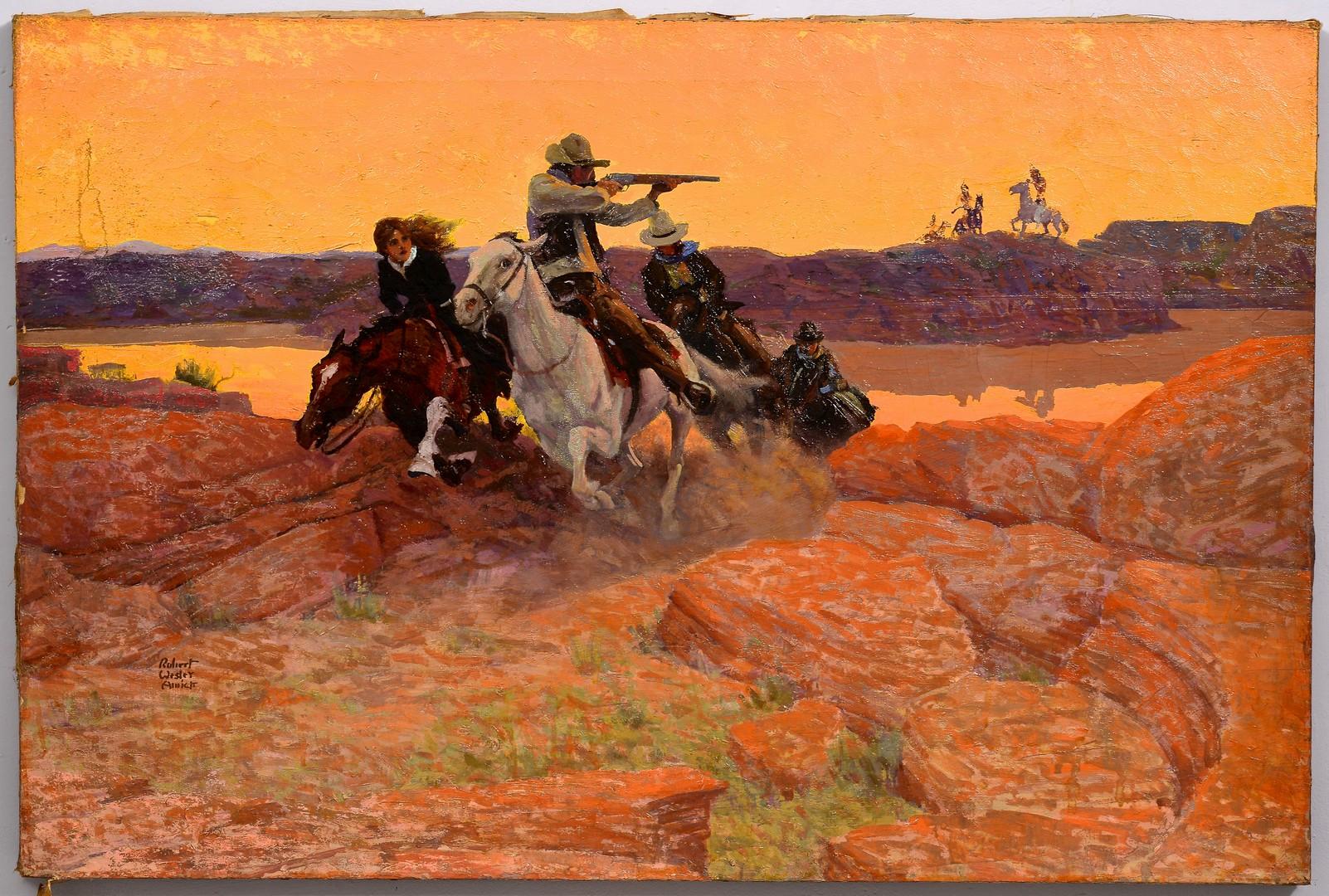 Lot 509: Robert Wesley Amick o/c, Cowboys