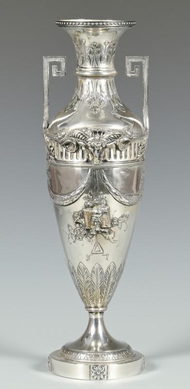 Lot 50: Hanau Silver Vase