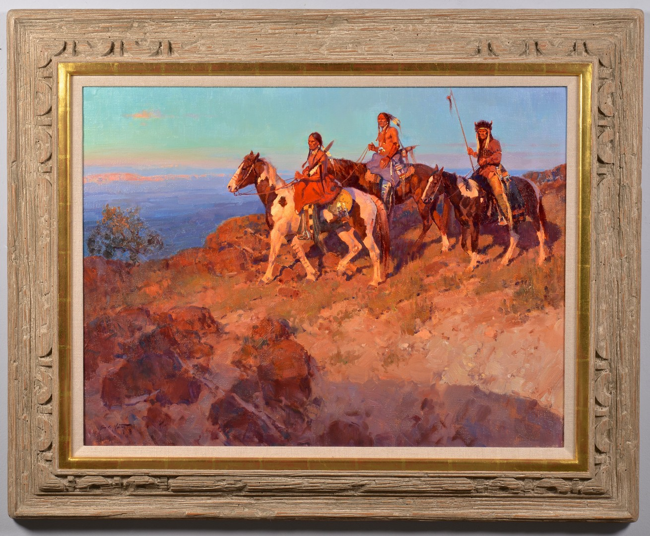 Lot 510: Jim Norton Oil on Canvas, Days Gone By