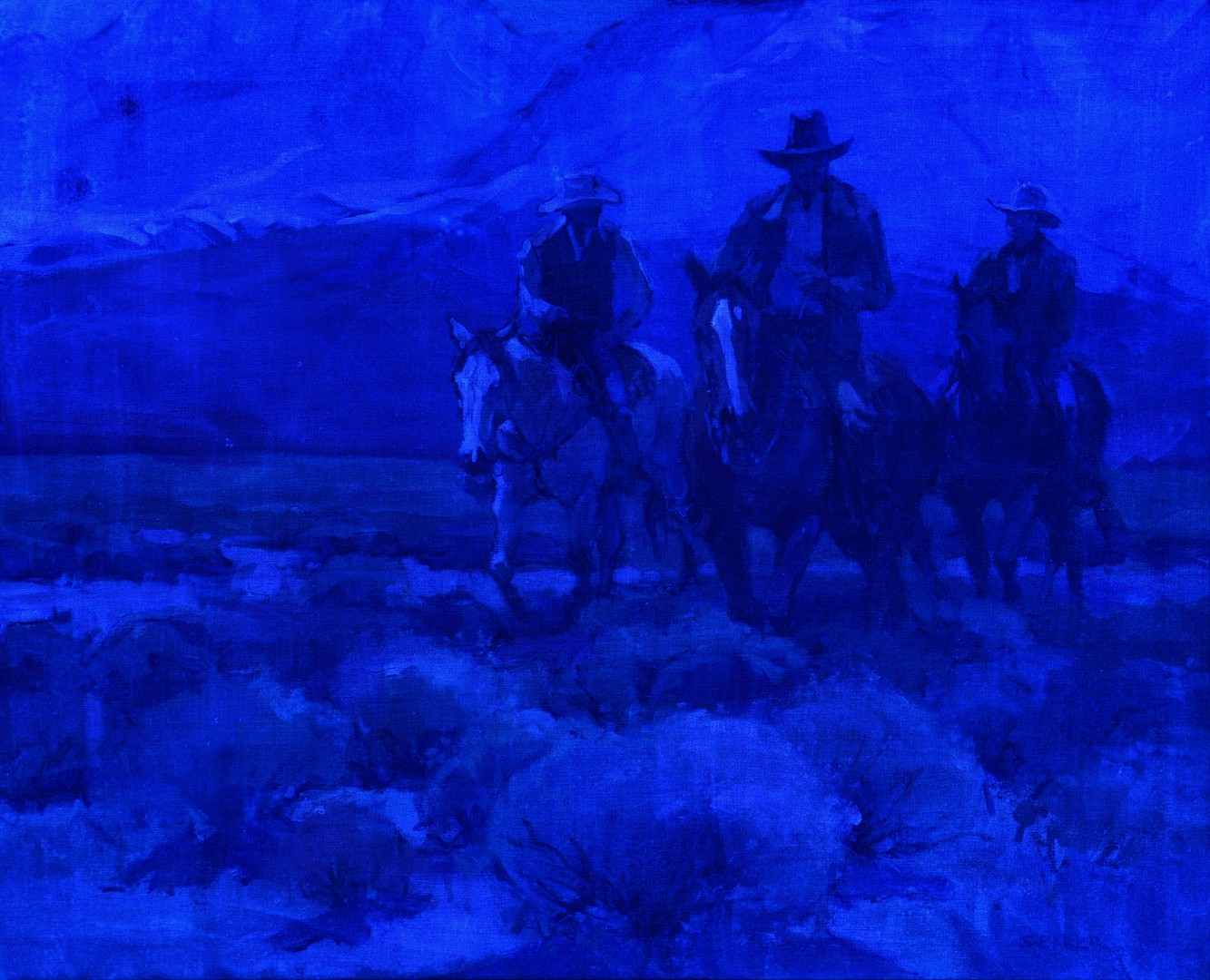Lot 511: Suzanne Baker O/C, Cowboys