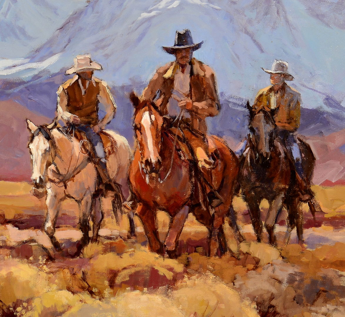 Lot 511: Suzanne Baker O/C, Cowboys