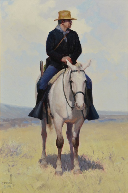 "Lot 513: Robert Pummill, O/B, ""The Trooper"""