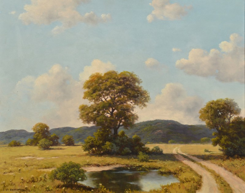 Lot 515: Roland Enright Oil on Canvas Landscape
