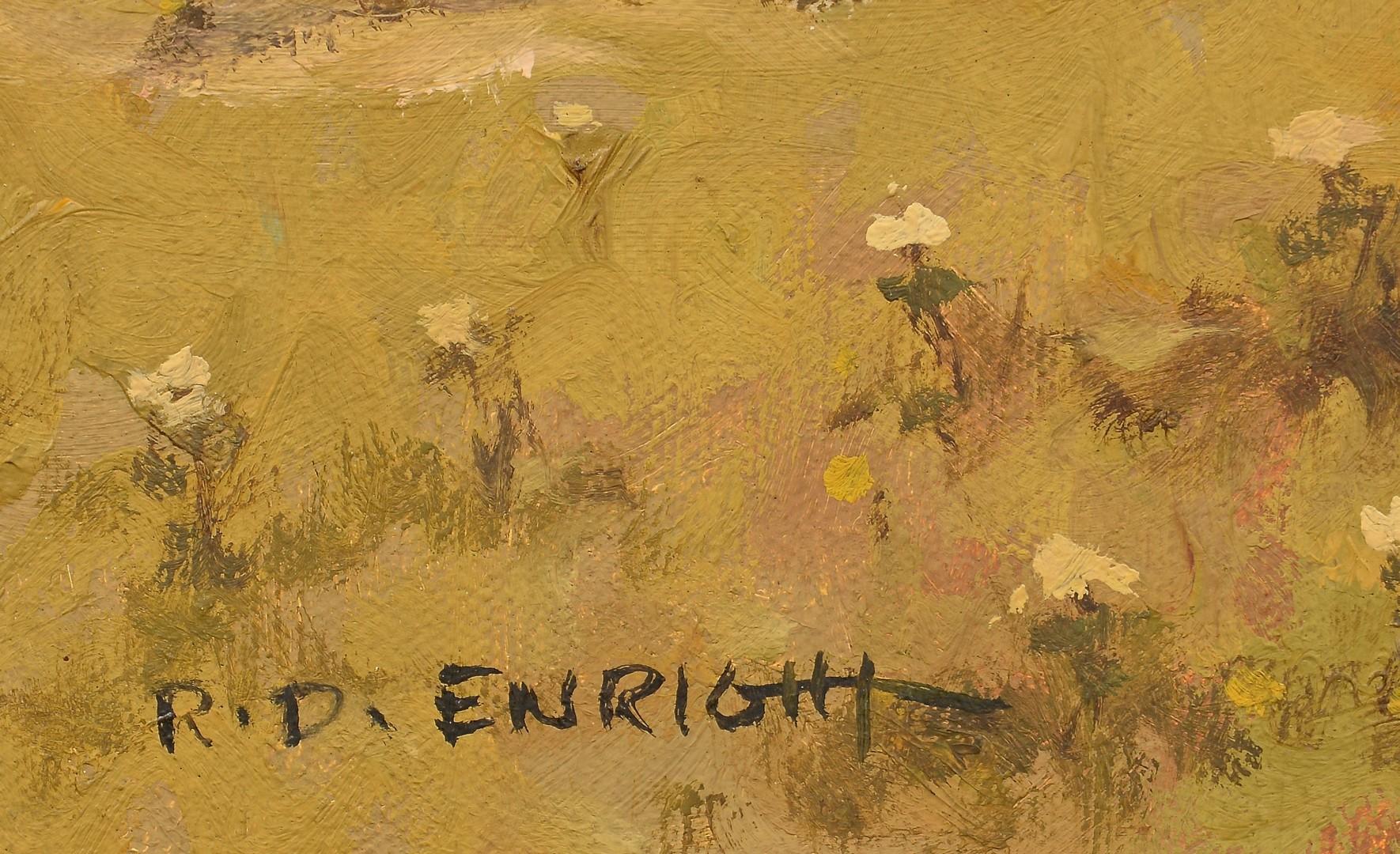 Lot 515: Roland Enright Oil on Canvas Landscape