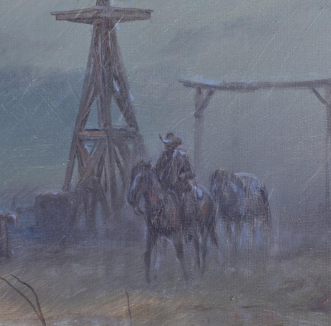 Lot 516: Carl J. Smith Oil on Canvas Snow Scene