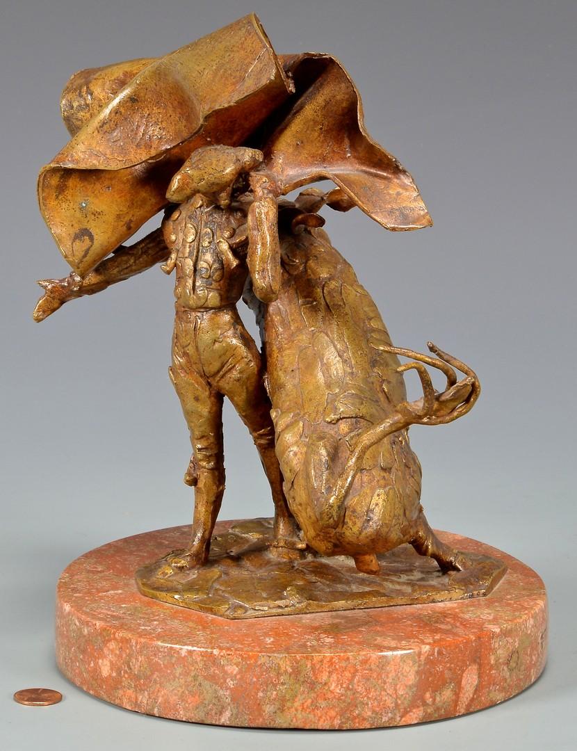 Lot 517: Heriberto Juarez, Matador Sculpture