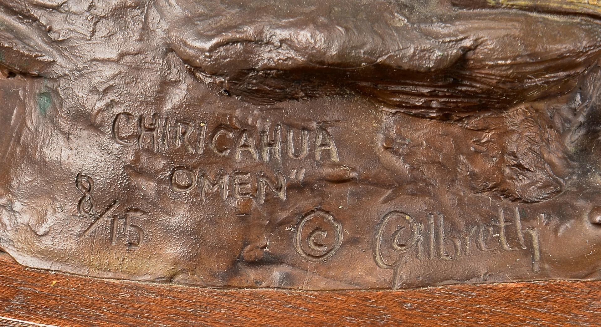 Lot 518: Gilbreth Bronze of Apache w/ Crow