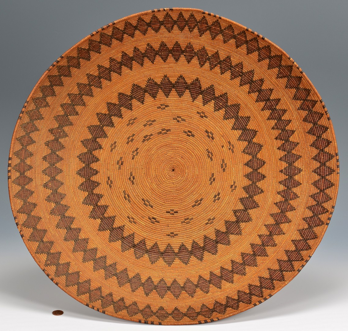 Lot 519: Native American Yokuts Rattlesnake Serving Tray