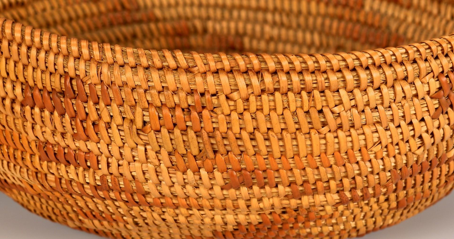 Lot 521: 2 California Native American Baskets & Basket Cove