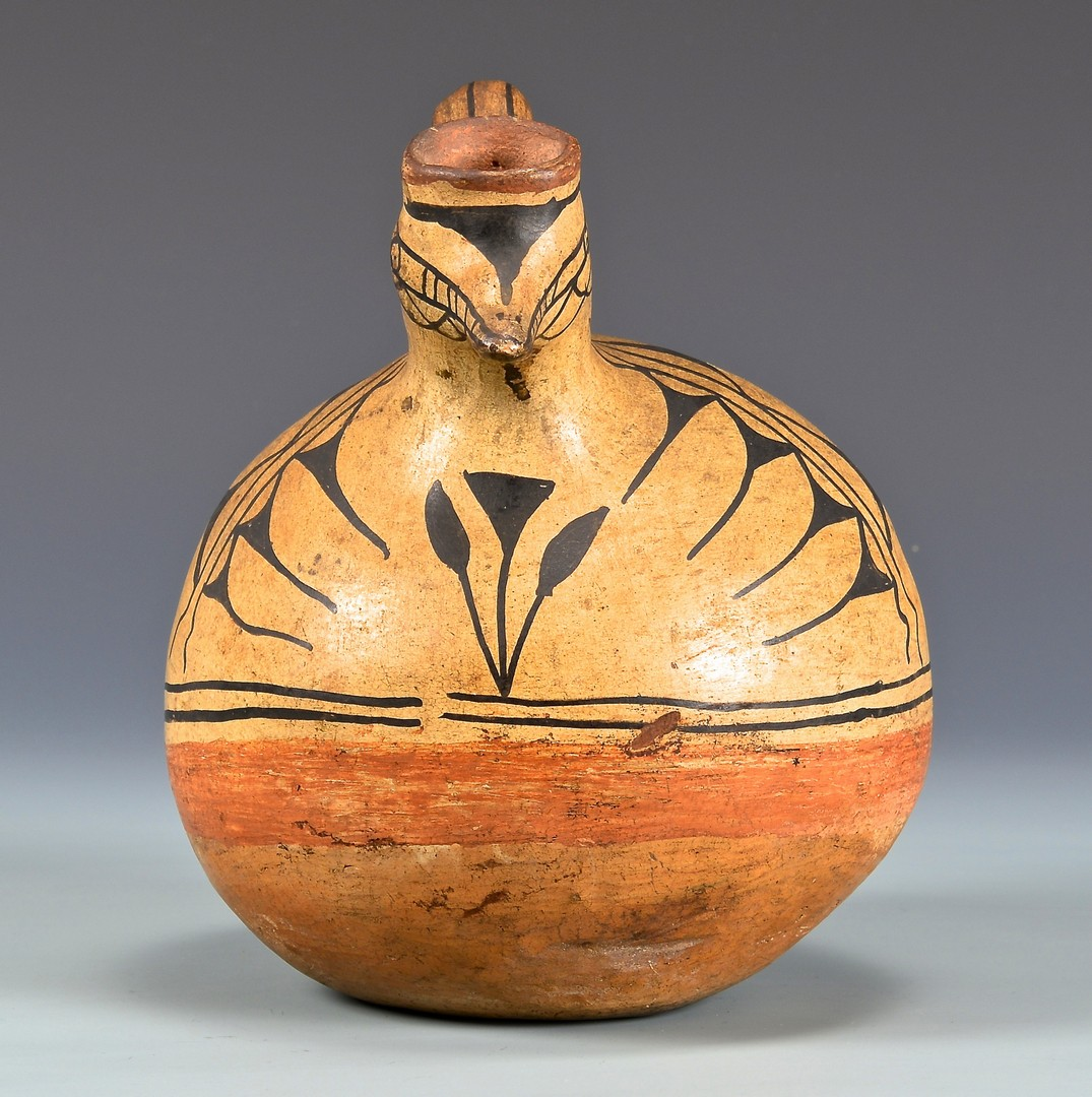 Lot 525: Cochiti Pottery Bird Effigy