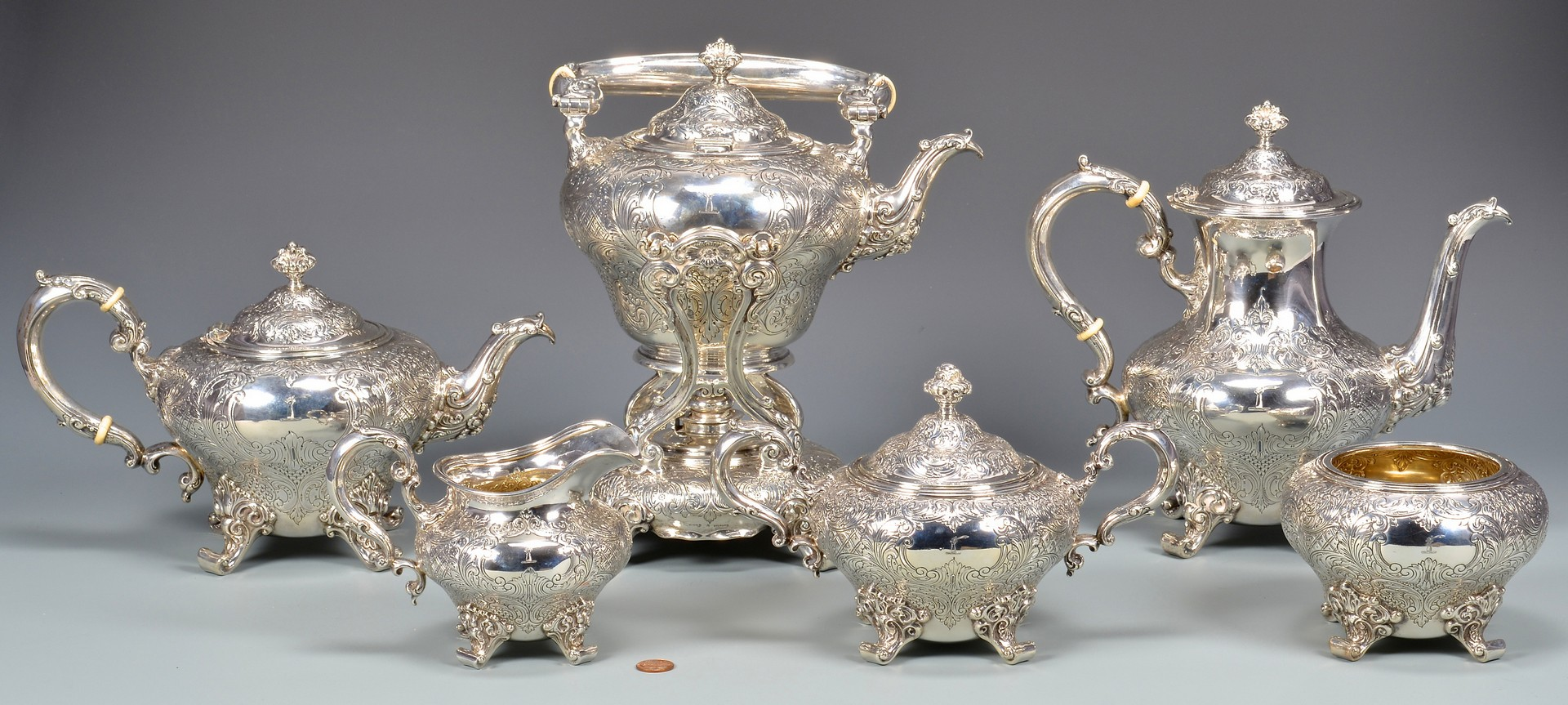 Lot 52: Birks Sterling Coffee and Tea Set
