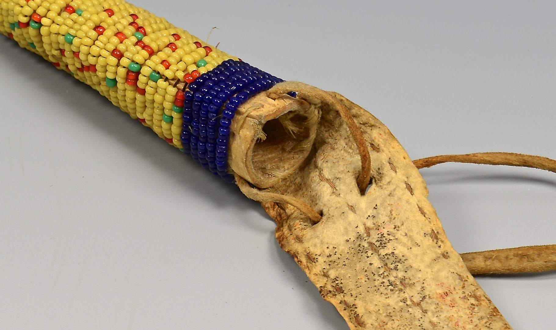 Lot 530: Native American Doll Cradle & Awl Case