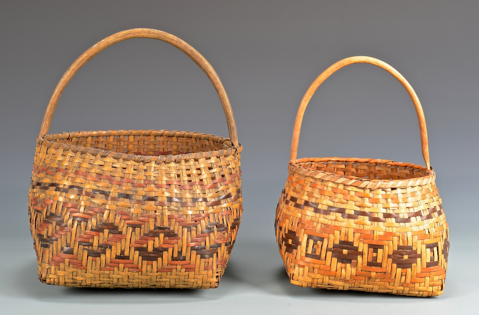Lot 533: Two Cherokee Rivercane Baskets