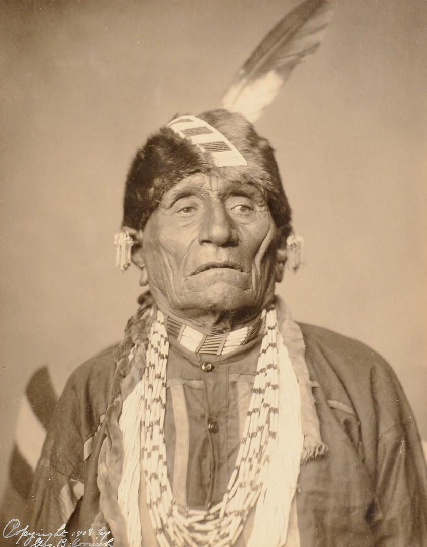 Lot 534: Native American Photo & Beadwork Pincushion