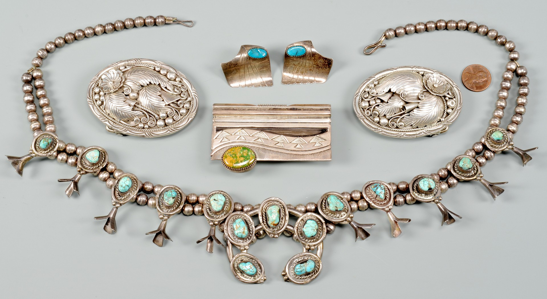 Lot 538: 5 Native American Sterling Items