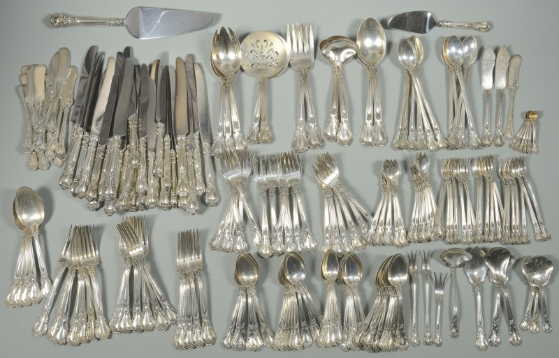 "Lot 53: Lg Gorham ""Chantilly"" Sterling Flatware Set, 203 p"