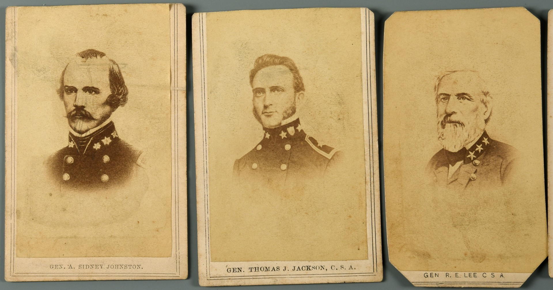 Lot 545: 12 Confederate CDVS incl. Walter Bowie