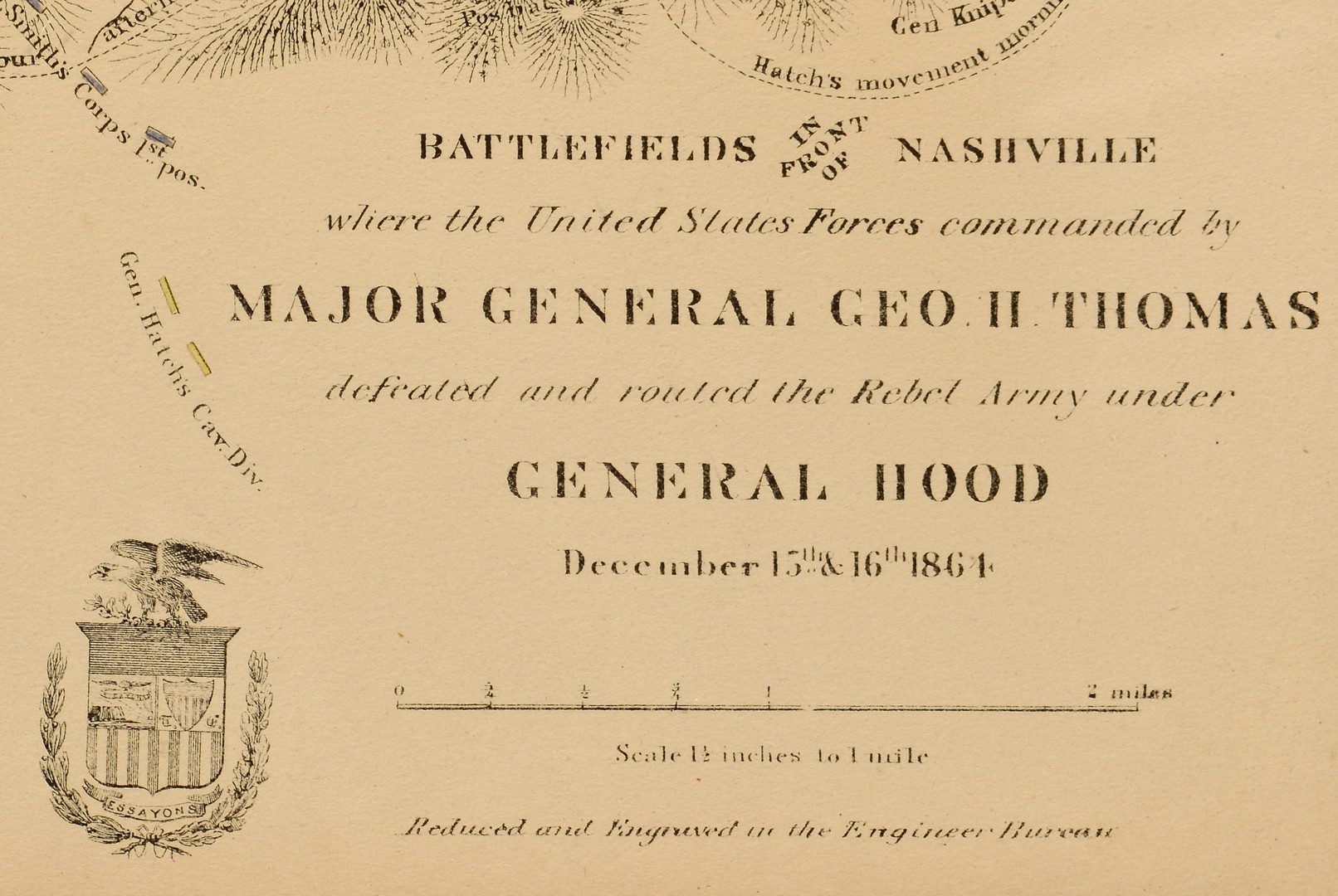 Lot 548: Nashville Battlefields and TN Map