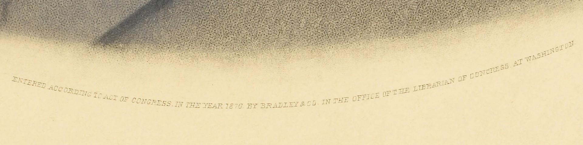 Lot 551: Robert E. Lee Memorial Engraved Portrait, 1870