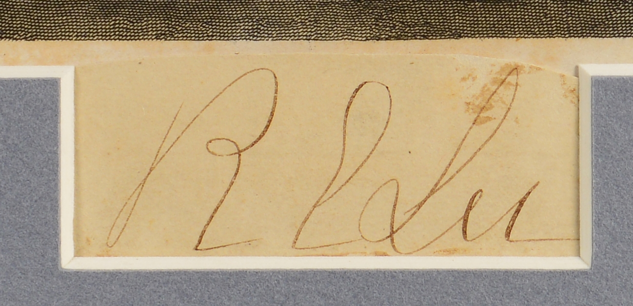 Lot 552: Authenticated Robert E. Lee Cut Signature and Engr
