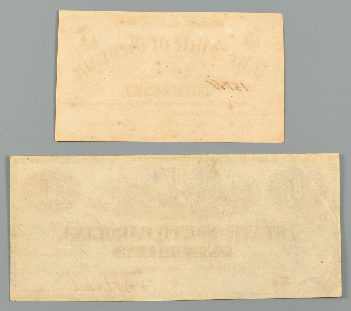 Lot 554: Collection of Confederate Currency, 6 items