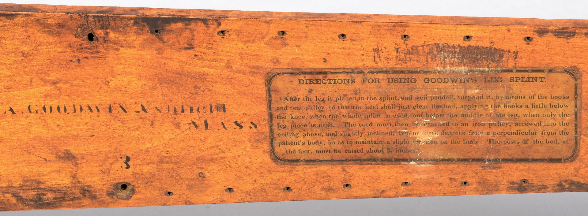 Lot 556: 4 Civil War Related Items inc. Leg Splint