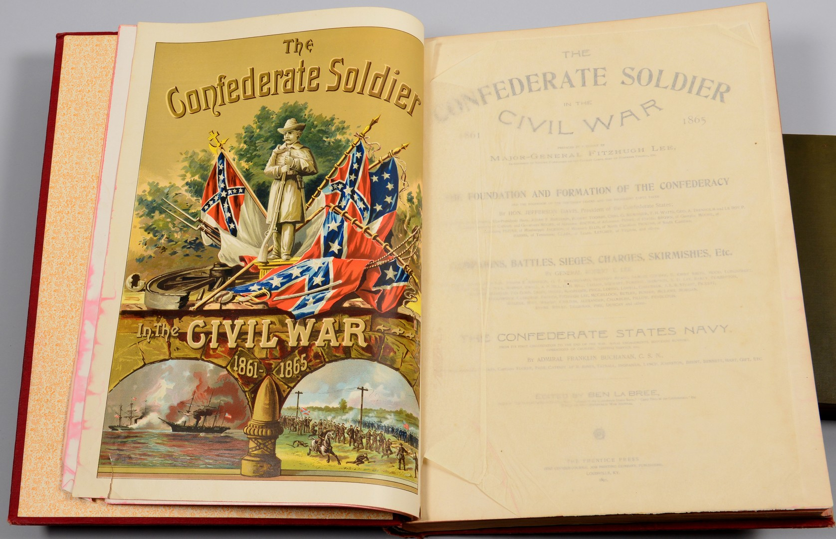 Lot 557: 3 Civil War related Books and 2 Military/Political